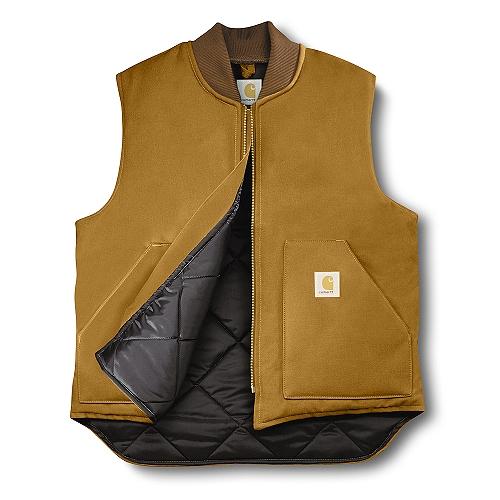 Carhartt Duck Vest / Arctic Quilt Lined V0100